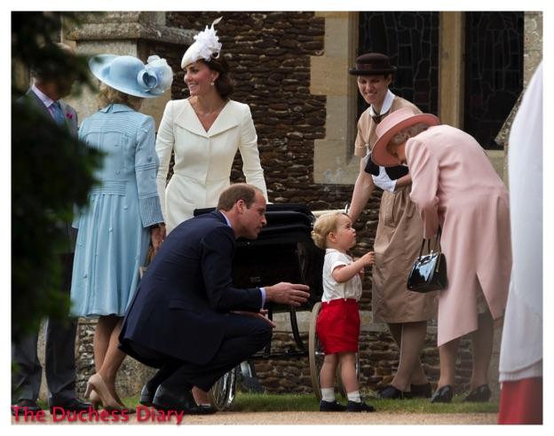 Prince George Speaks Queen Elizabeth II St Mary Magdalene Church