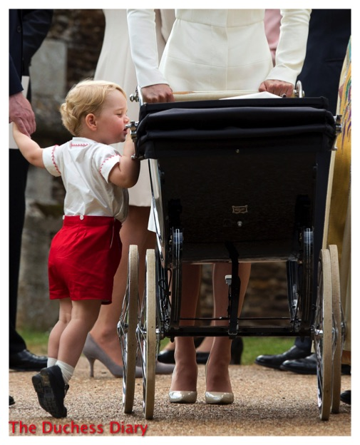 Prince George Looks Princess Charlotte Pram