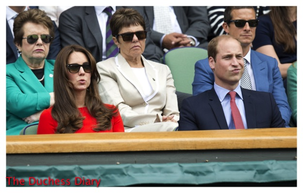 Prince William Kate Middleton Watch Wimbledon 2015