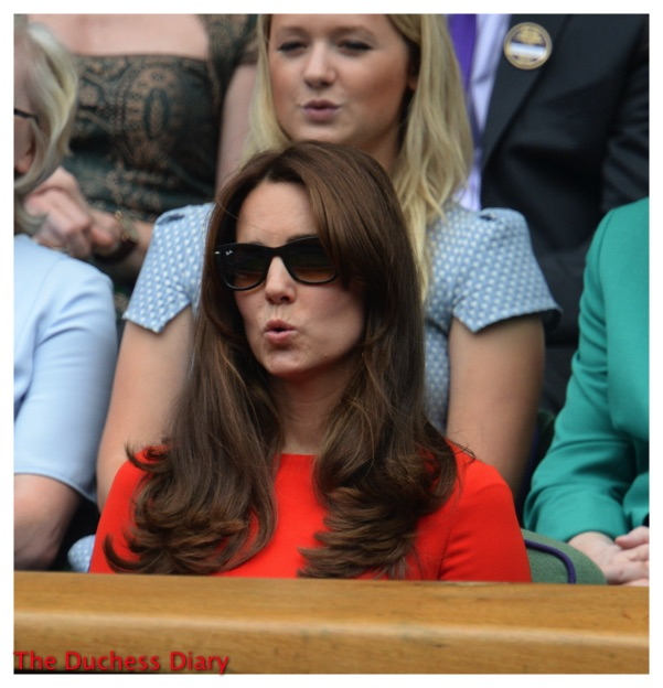 Kate Middleton Ray Bans Facial Expression Wimbledon 2015