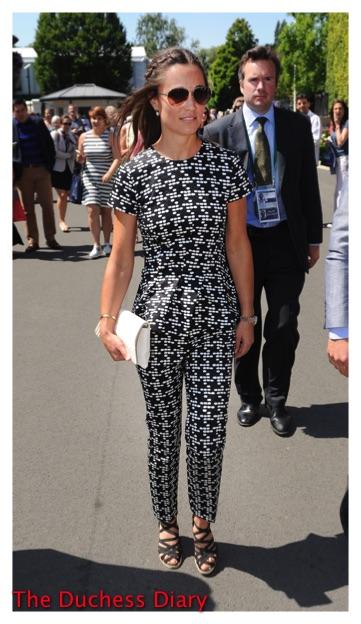 Pippa Middleton Carolina Herrara Outfit Wimbledon 2015