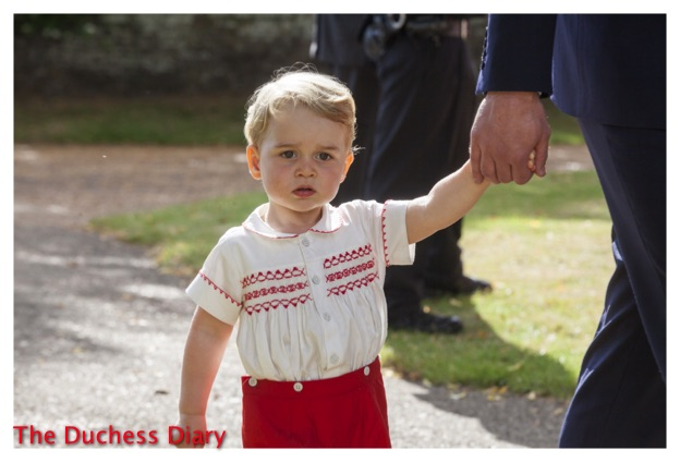 Prince George Red Shorts Charlotte Christening