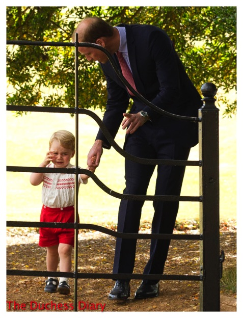 Prince George Cries Holds William's Hand