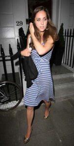 Kate Middleton Striped Dress Cocktail Party London