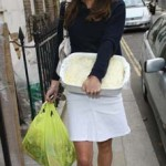 Kate Middleton Sweater White Skirt Casserole Dish