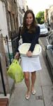 Kate Middleton Sweater White Skirt Casserole Dish