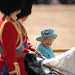 The Queen Trooping the Colour Parade 2019 Smiles at Prince William