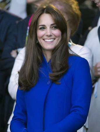kate middleton blue reiss coat twickenham