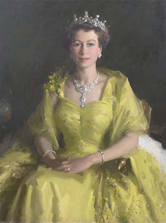 1954 portrait queen elizabeth william dargie