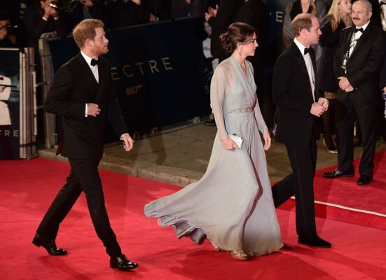 "Prince William Kate Middleton Prince Harry Attend World Premiere ""Spectre"""