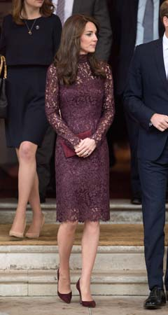 Kate Middleton eggplant dolce gabbana dress