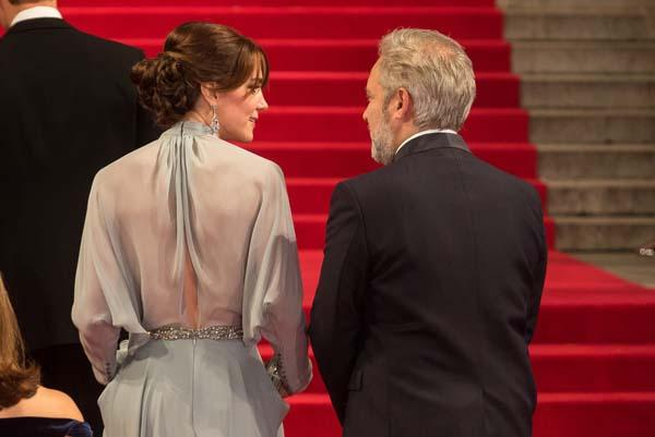 kate middleton back shot jenny packham dress sam mendes red carpet royal albert hall