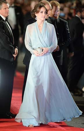 Kate Middleton Jenny Packham Gown Royal Albert Hall Spectre Premiere