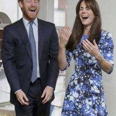 prince harry kate middleton laughing bafta aardman event