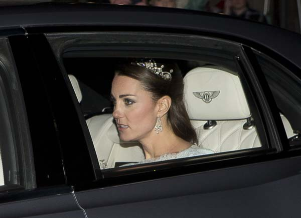 kate middleton tiara diplomatic reception london 2013