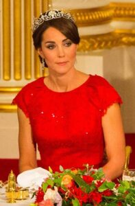 kate middleton red jenny packham gown state dinner china