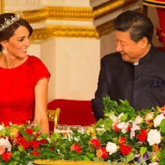 kate middleton smiles president china state dinenr