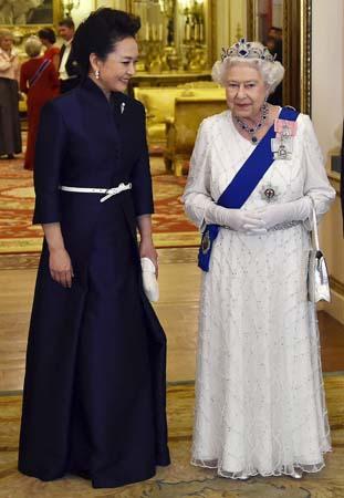 Peng Liyuan queen elizabeth chinese state dinner