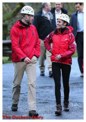 Will and Kate Visit Towers Residential Outdoor Education Center