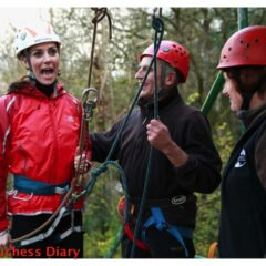kate middleton funny face abseiling towers residential outdoor education center