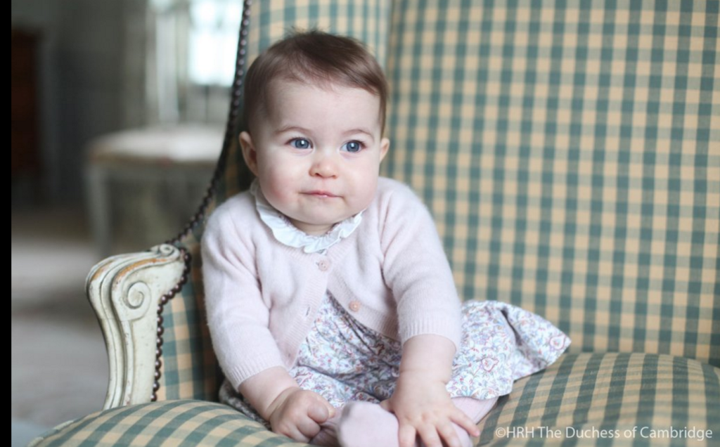 Princess Charlotte Sits Chair Photo Norfolk England