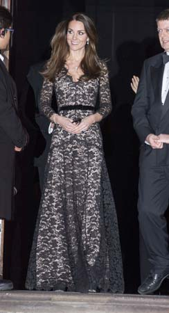 kate middleton temperley london lace gown natural history museum