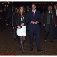 prince william kate middleton white temperley london dress christmas spectacular 2010