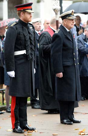 prince harry prince philip field of remembrance 2015