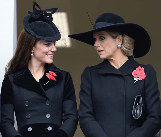 kate middleton alexander mcqueen coat queen maxima netherlands remembrance sunday 2015