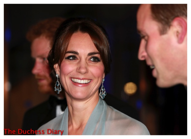 kate middleton smiles prince william spectre premiere