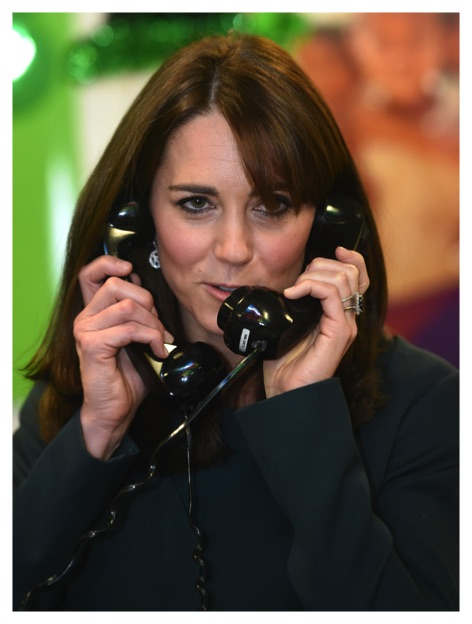 kate middleton phone calls ICAP charity day