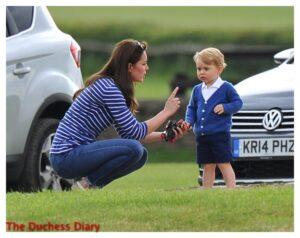 Kate Middleton Talks To Prince George Tetbury England Festival of Polo