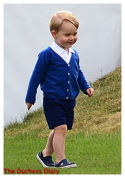 prince george smiles blue cardingan festival of polo