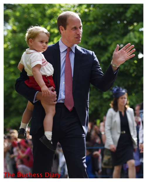 prince william carries prince george christening princess charlotte