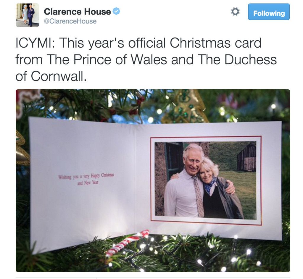 prince charles duchess of cornwall 2015 christmas card