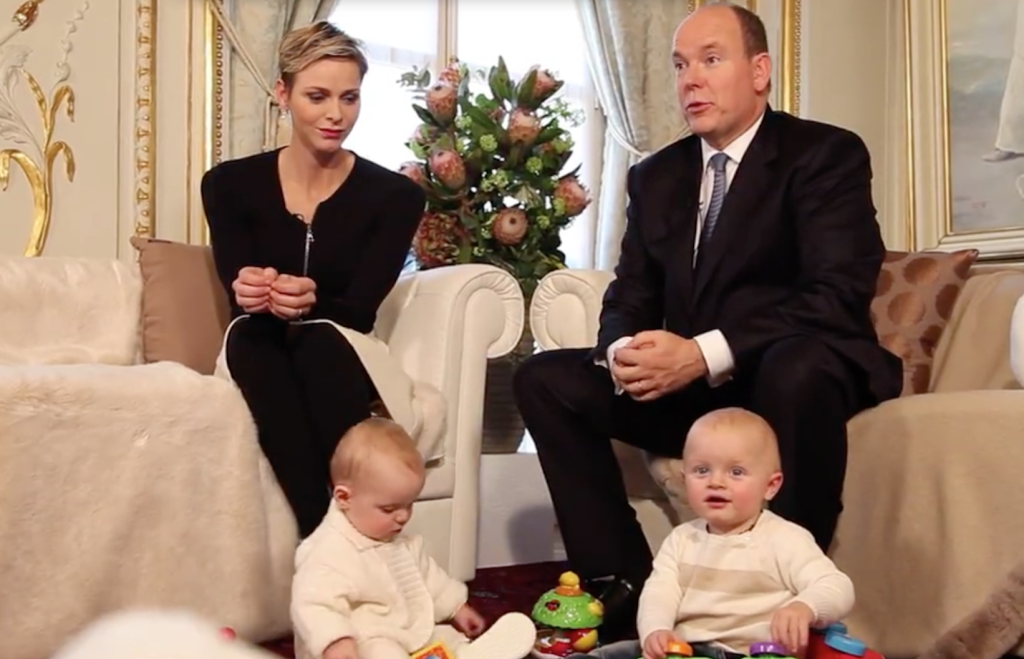 princess charlene prince albert monaco palace twins prince jacques princess gabriella