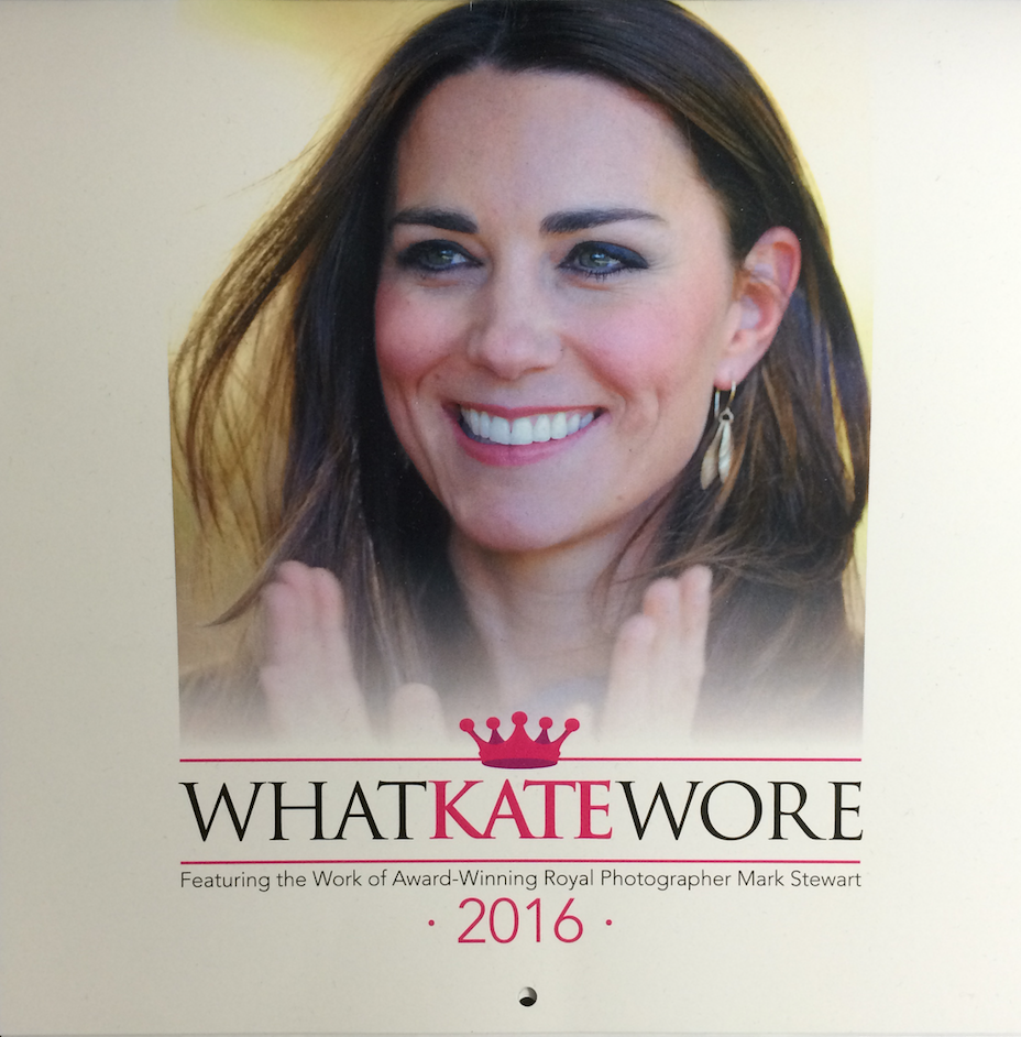 what kate wore 2016 calendar cover