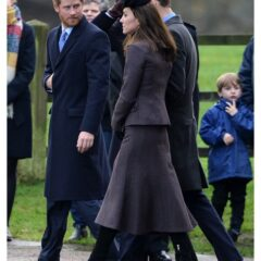 kate middleton prince harry prince william church service sandringham