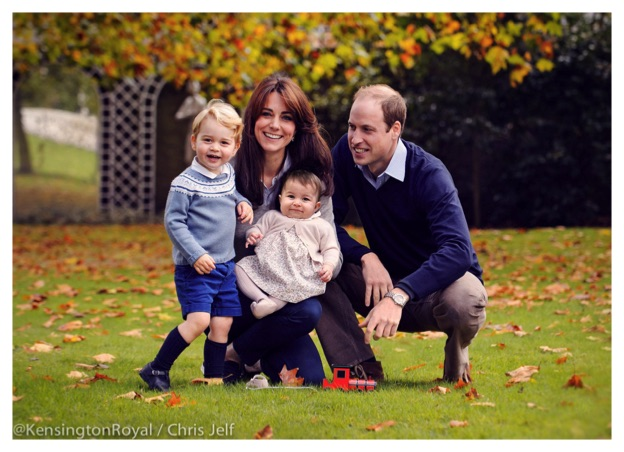 kate middleton prince william pose children prince george princess charlotte norfolk home
