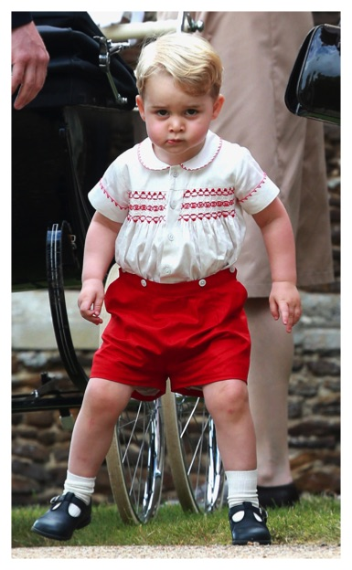 Prince George stern face christening princess charlotte