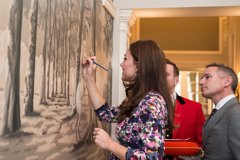 kate middleton paints the goring hotel