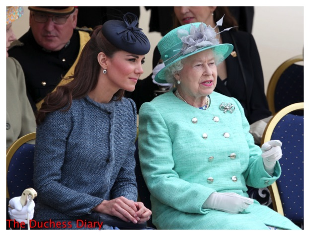 the queen sitting duchess of cambridge nottingham