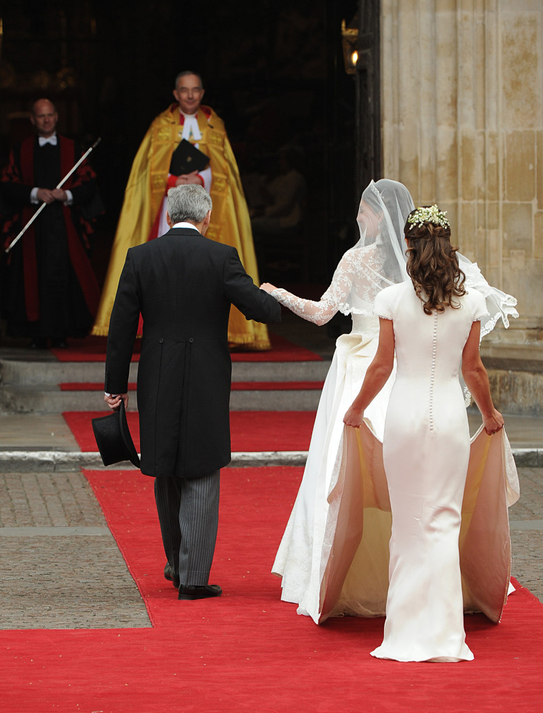 pippa middleton rear shot alexander mcqueen dress westminster abbey