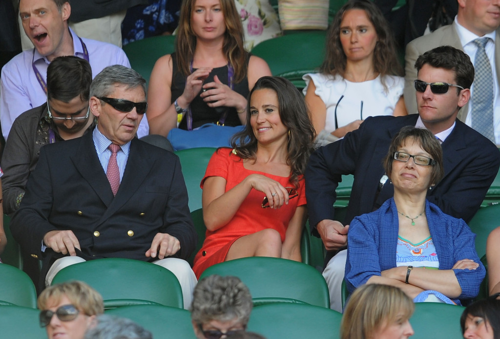 pippa middleton red dress alex loudon wimbledon day nine 2011 michael middleton