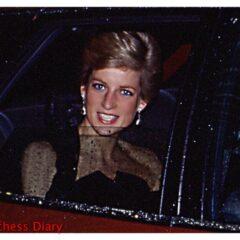 princess diana diamond drop earrings car smiling