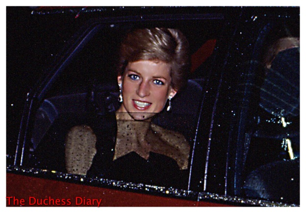 princess diana diamond drop earrings car smiling