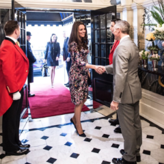 kate middleton pregnant enters the goring hotel london