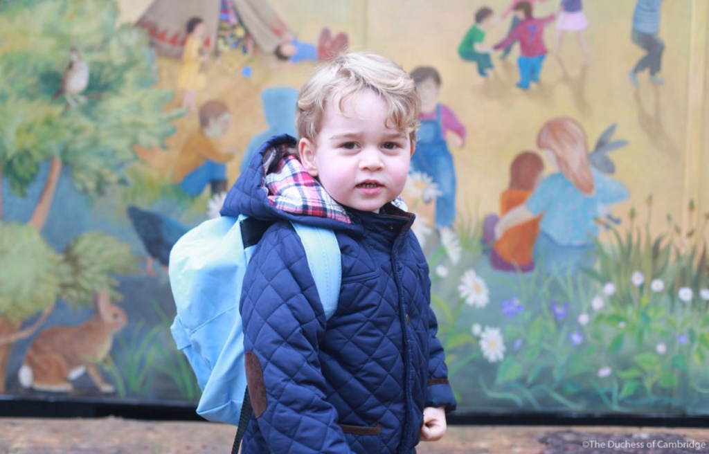 prince george quilted jacket first day nursery school norfolk