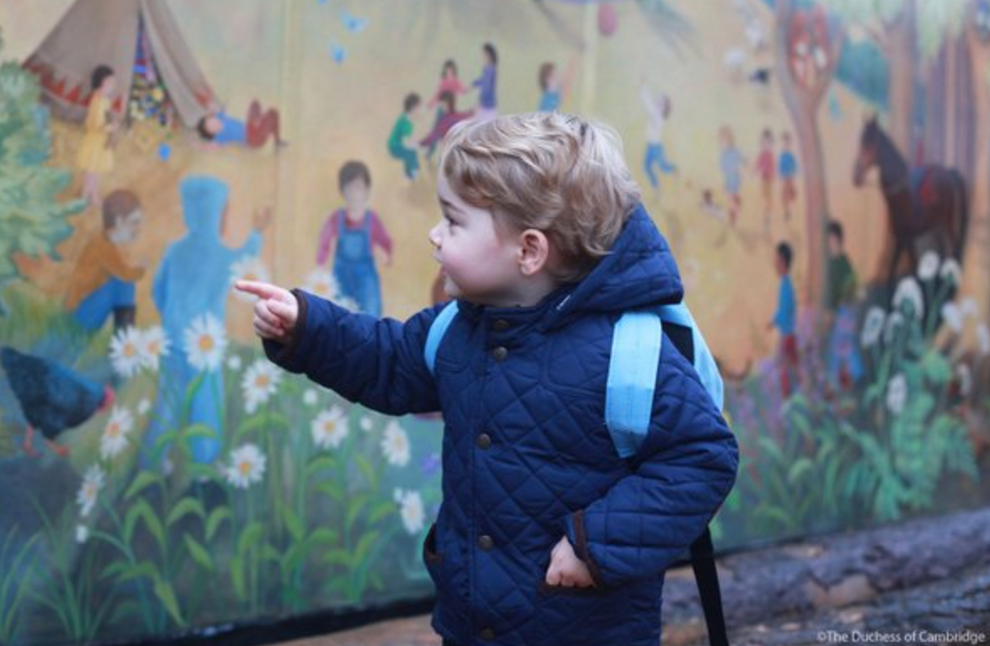 prince george inspects mural nursery school norfolk