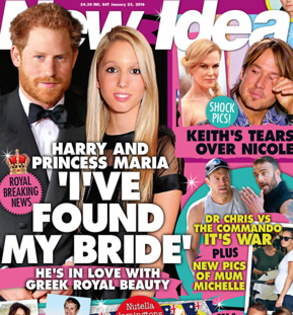 prince harry olympia new idea magazine Australia